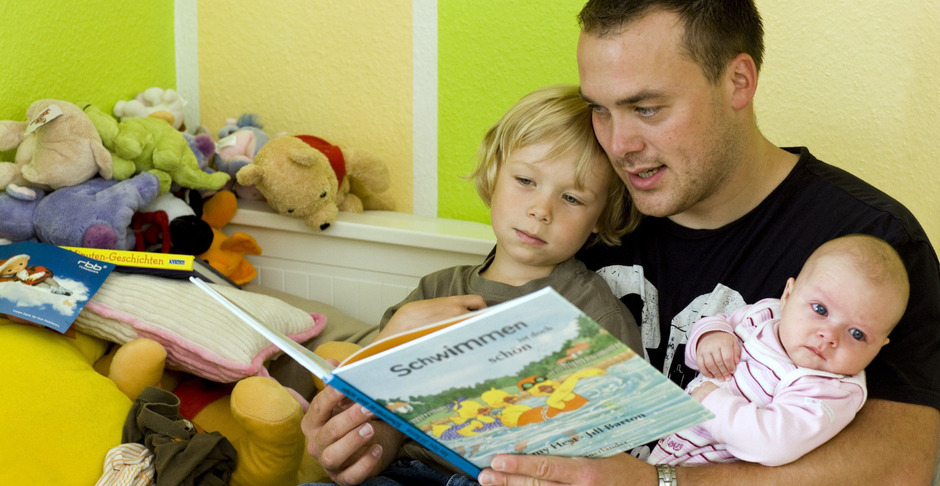 Gemeinsames Lesen mit den Eltern ist wichtig