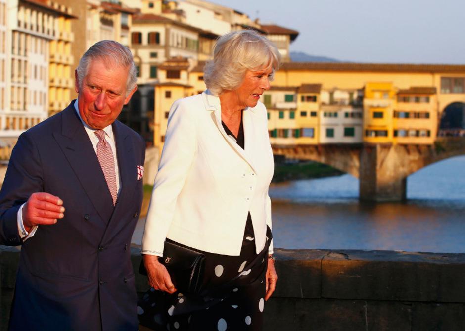 Das Thronfolger-Paar in Florenz.