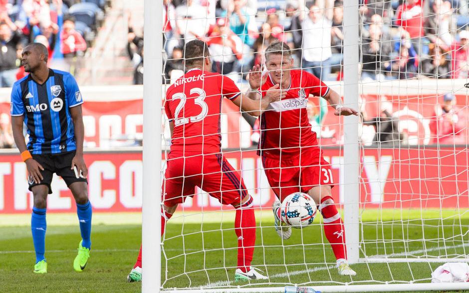 Bastian Schweinsteiger startet durch: Bei seinem Debüt für Chicago Fire traf er in der 17. Minute.