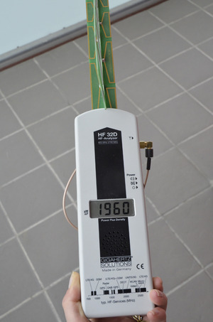 Messgerät für elektromagnetische Strahlen in Mikrowatt.