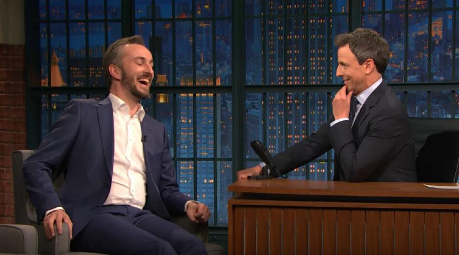 """Jan Böhmermann war zu Gast in der """"Late Night With Seth Meyers""""."""