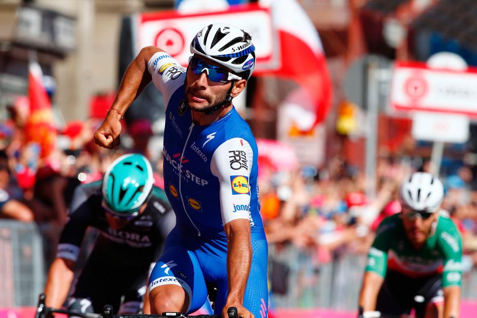 Tagessieger und Gesamtführender: Der kolumbianische Quickstep-Fahrer Fernando Gaviria.