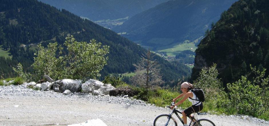 Das Wipptal bietet zahlreiche Mountainbikewege. Ein Radweg Steinach a. Br. - Brenner ist in Planung.