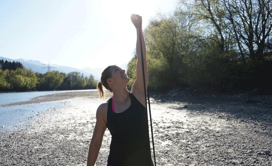 Am liebsten trainiert die Tirolerin in der freien Natur.