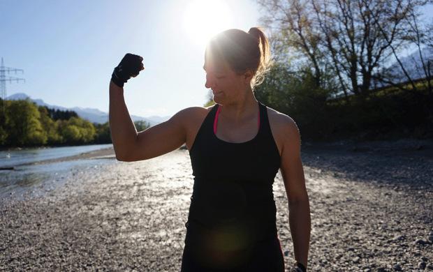 Katrin hat nicht nur Muskeln aufgebaut - sondern auch innere Stärke. Dasselbe möchte sie ihren zukünftigen Kunden bieten.