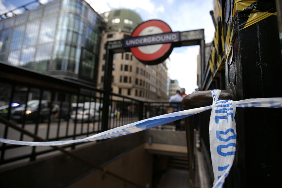 Die U-Bahnstation nahe der London Bridge wurde geschlossen.