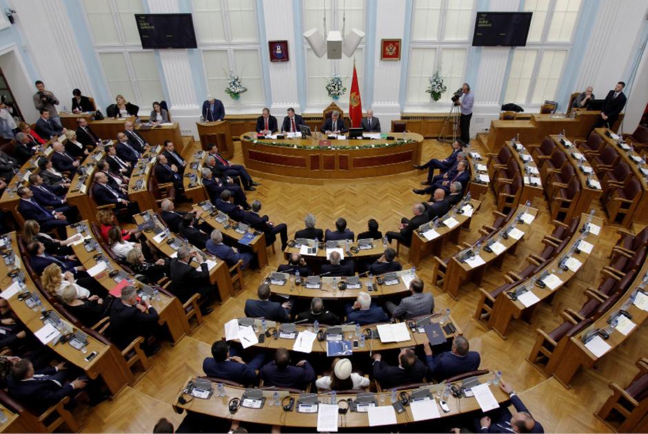 Blick ins Parlament Montenegros.