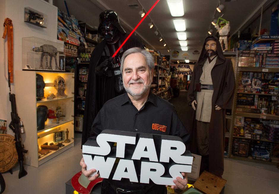 Steve Sansweet, Inhaber des Rancho-Obi-Wan-Museums.