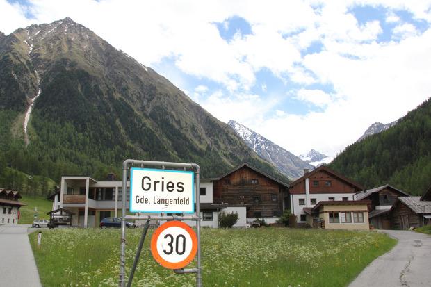 Der Längenfelder Weiler Gries liegt auf 1569 Metern Seehöhe.