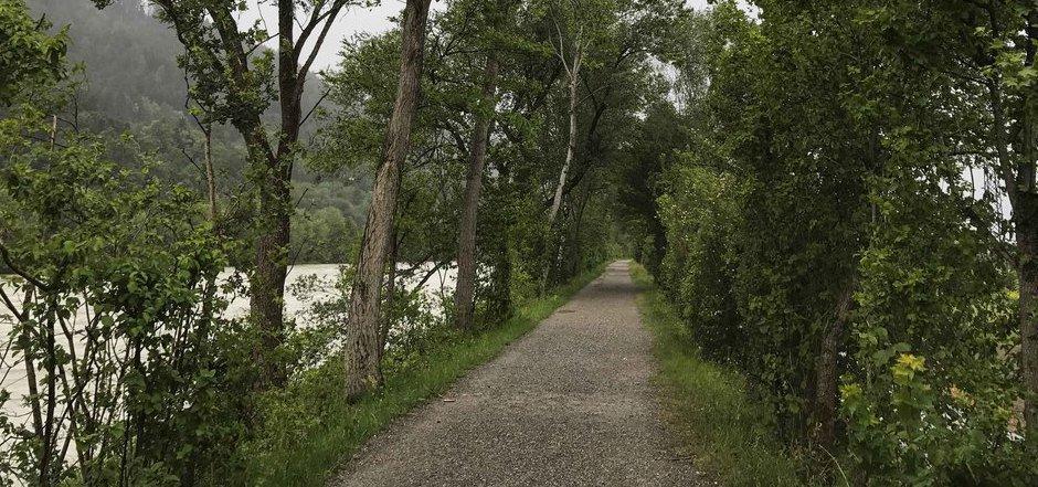 Die Hans-Flöckinger-Promenade in Kranebitten.