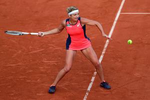 Nach einer langen Unterbrechung besiegte Timea Bacsinszky die Französin Kristina Mladenovic.