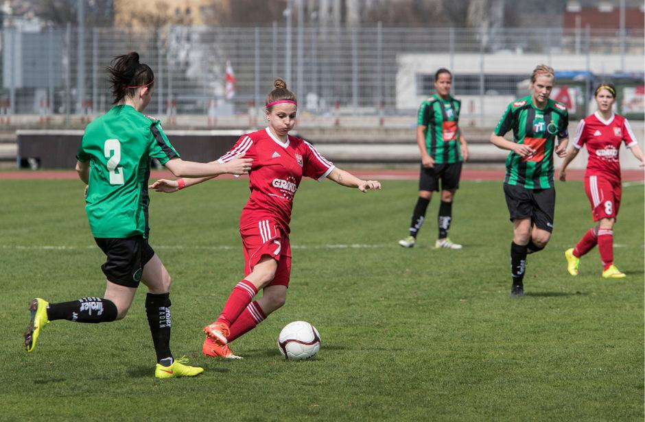 Gegen wen tritt die erste Mannschaft der Wacker-Damen kommende Saison an? Gegen einen Bundesligisten wie Südburgenland (rot) oder gegen Mannschaften wie Geretsberg (zweite Liga)?