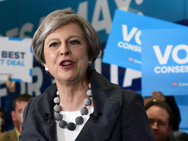Theresa May, Premierministerin und Spitzenkandidatin der Konservativen.
