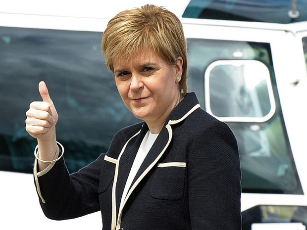 Nicola Sturgeon, Chefin der schottischen Regionalregierung und Vorsitzende der Schottischen Nationalpartei.