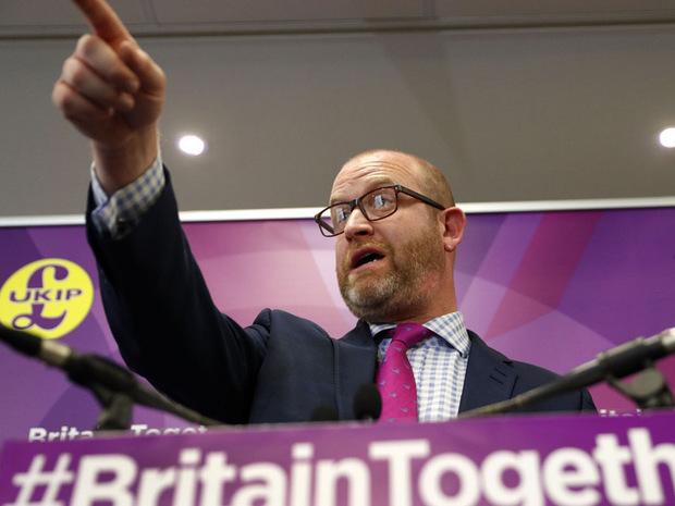 Paul Nuttall, Historiker und Vorsitzender der EU-feindlichen UKIP.
