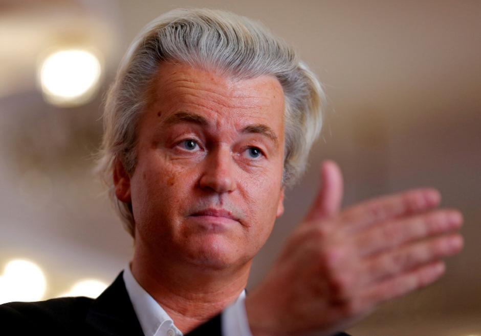 """Geert Wilders ist Chef der """"Partei für die Freiheit""""."""