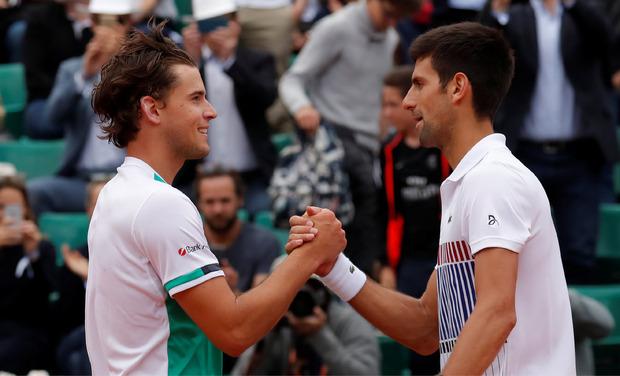 Faire Gratulation von Djokovic.