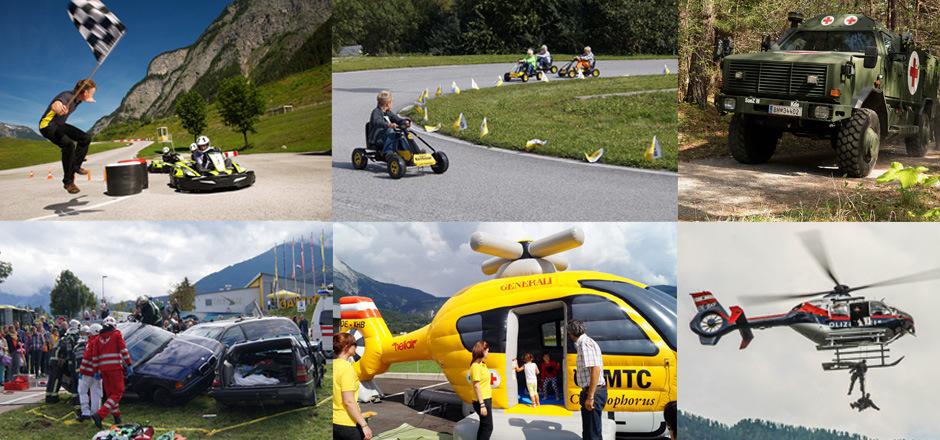 Neben spannenden Vorführungen von ÖAMTC, Polizei, Feuerwehr und Rettung steht am ÖAMTC Sicherheitstag viel Spaß und Action für Groß und Klein auf dem Programm.