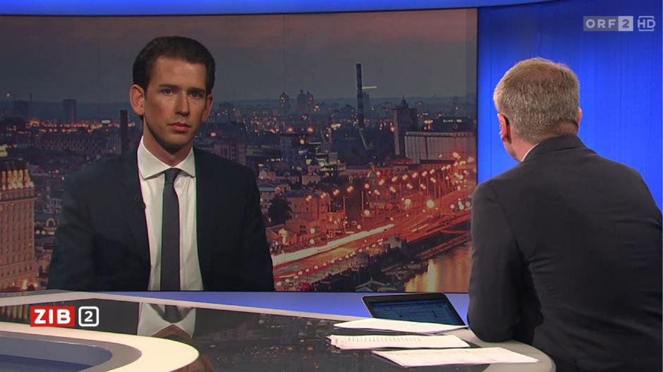 """ÖVP-Chef Kurz am Mittwochabend im """"ZiB2""""-Interview."""