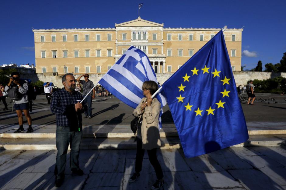 Pro-europäische Demonstranten in Athen.