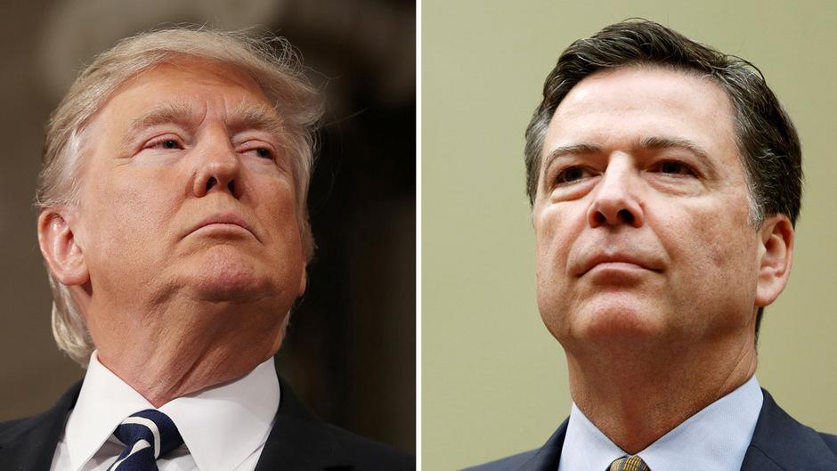 Der entlassene frühere FBI-Chef James Comey (r.) hat bestätigt, dass US-Präsident Donald Trump ihn aufgefordert habe, einen Teil der Ermittlungen zur Russland-Affäre einzustellen. Heute sagt Comey vor dem Senat aus.
