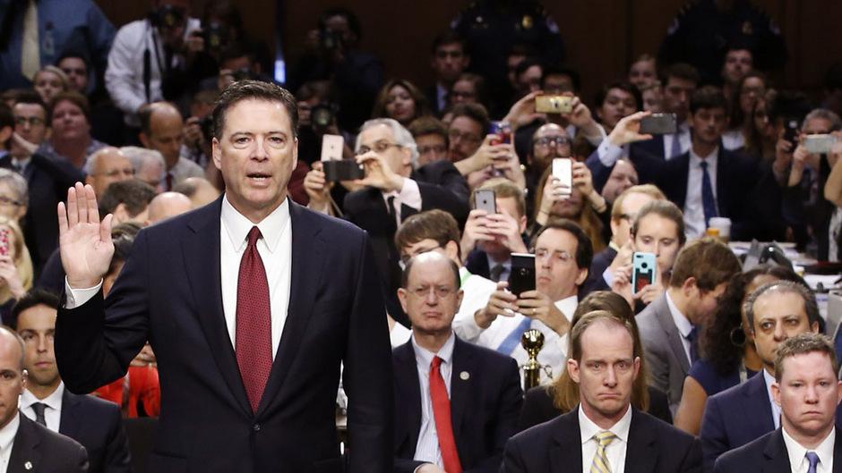 Comey am Donnerstag bei seiner Anhörung durch den US-Senat.