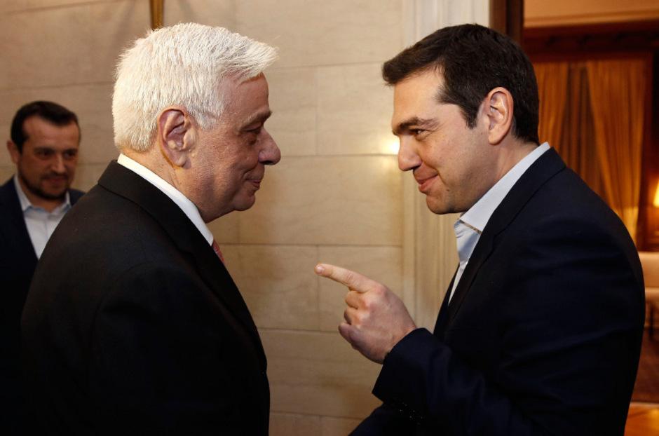 Griechenlands  Präsident Prokopis Pavlopoulos und Premier Alexis Tsipras.