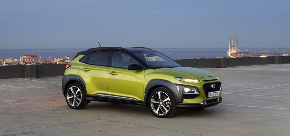 Weckt Begehrlichkeiten: der im Oktober auf den Markt kommende Kona, ein 4,17 Meter langes Sport Utility Vehicle von Hyundai.