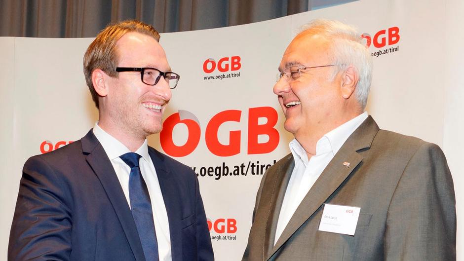 Generationswechsel beim Österreichischen Gewerkschaftsbund Tirol: Der bisherige Vorsitzende Otto Leist übergibt nach sieben Jahren an der Spitze an Nachfolger Philip Wohlgemuth.