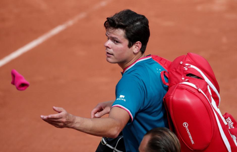 Bei den French Open scheiterte Raonic im Achtelfinale.
