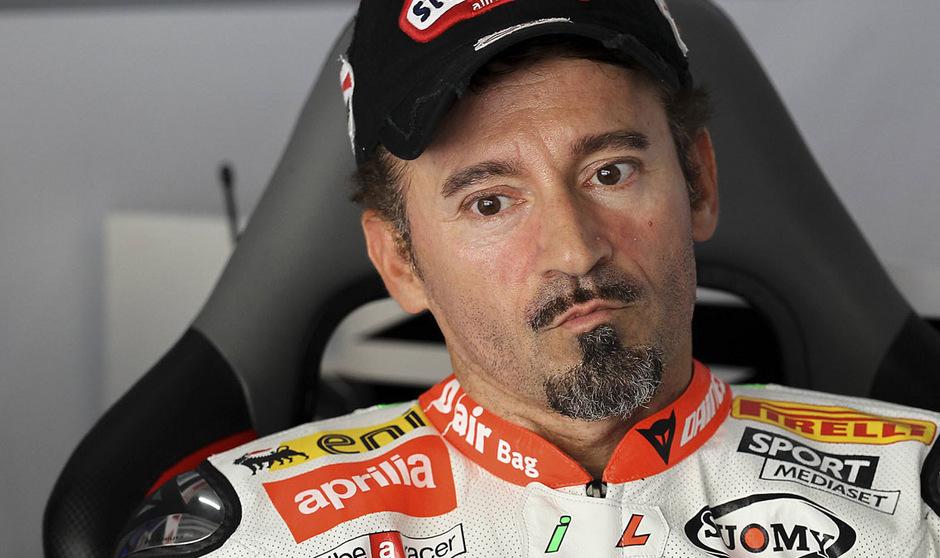 Max Biaggi verunfallte beim Training für ein Supermoto-Rennen in Sagitario.