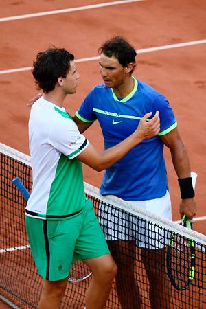 Gegen Rafael Nadal war an diesem Abend kein Kraut gewachsen. Thiem gratulierte dem Spanier nach dem Match zum Sieg.