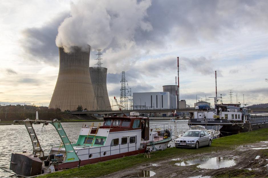 Kernkraftwerk Tihange in Huy, Wallonien, Belgien.