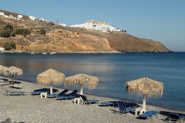 Am Strand von Livadia ist nicht viel los – außer vielleicht zur Hauptreisezeit im August.