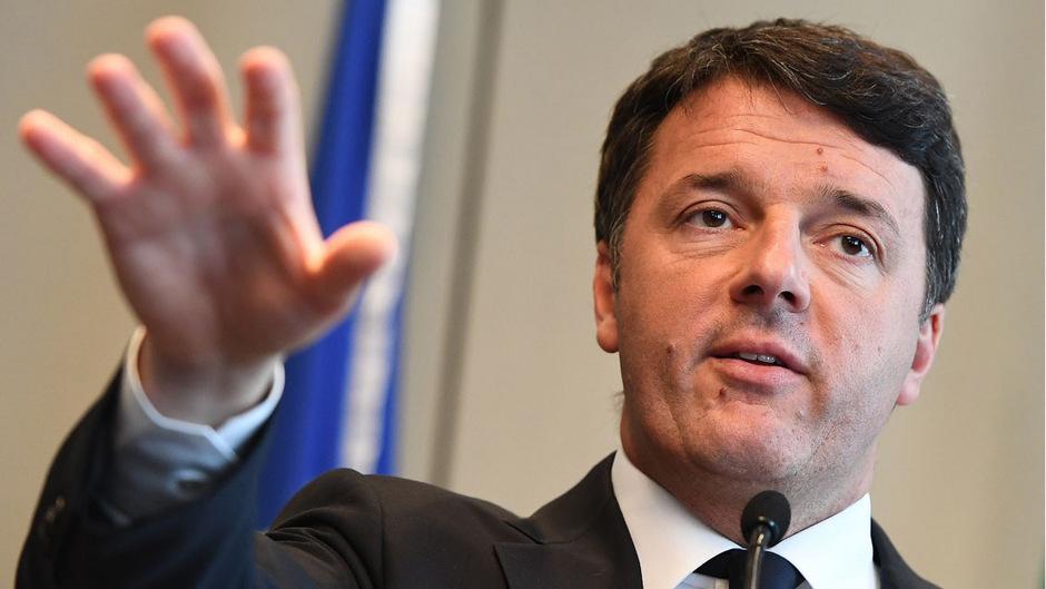 Italiens Ex-Premier Matteo Renzi.