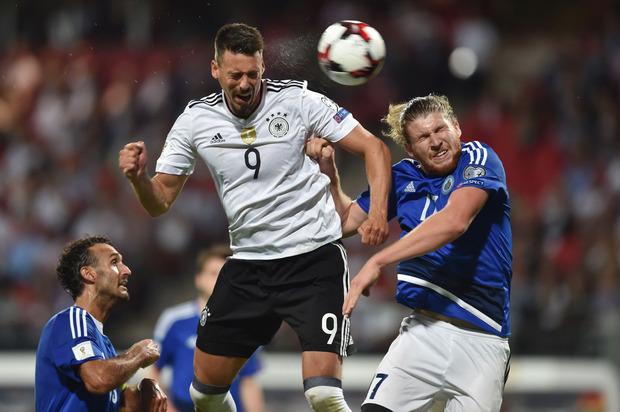 Deutschlands Neo-Teamstürmer Sandro Wagner erzielte drei Treffer gegen San Marino.