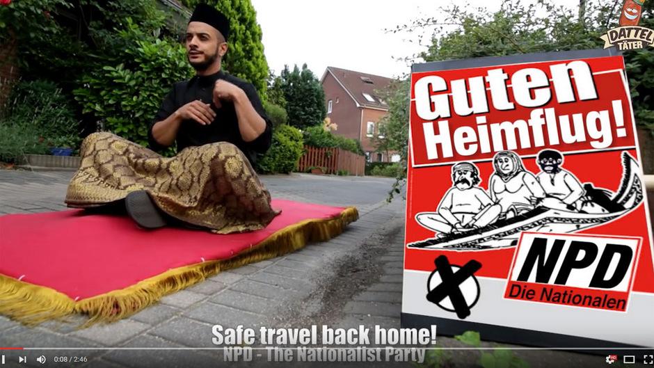 """Der YouTube-Kanal""""Datteltäter"""" versucht mit Humor und Satire Vorurteile gegenüber Muslimen zu entkräften ."""