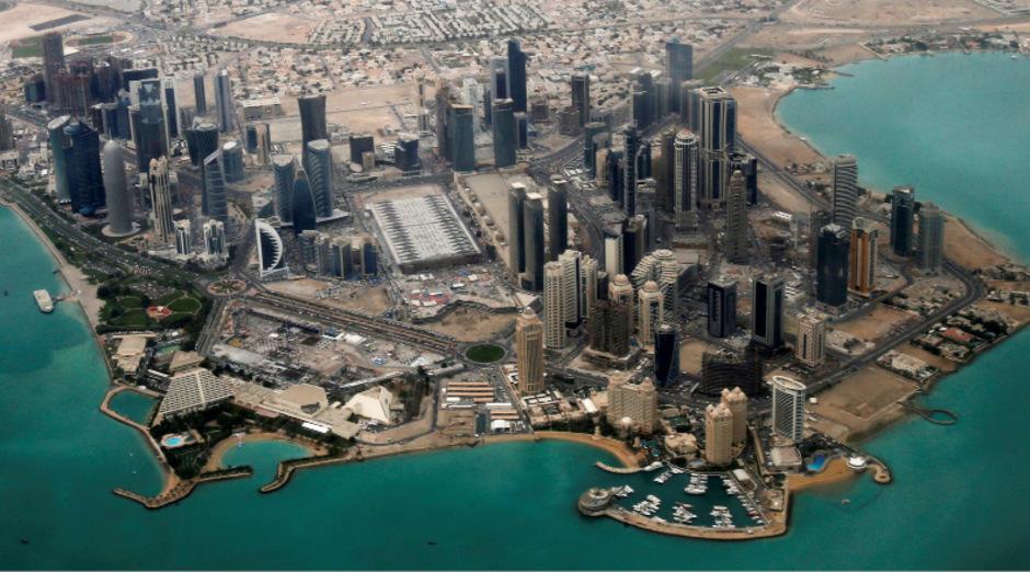 Diplomatenviertel in Doha.