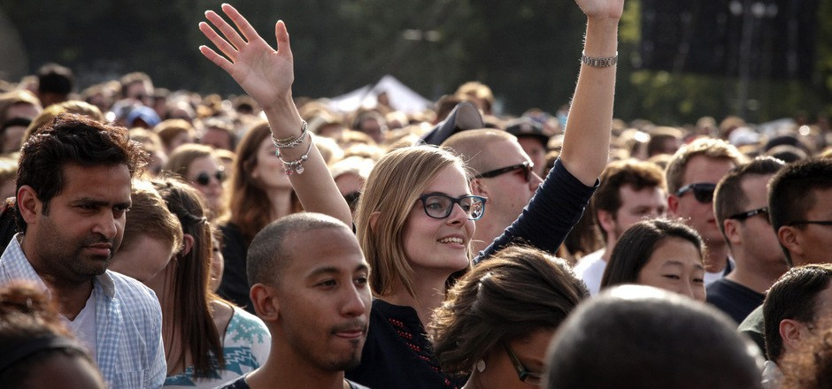 Besucher des Global-Citizen-Festivals in New York im Vorjahr.