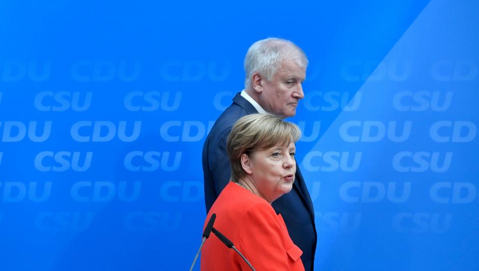 Angela Merkel und CSU-Chef Horst Seehofer.
