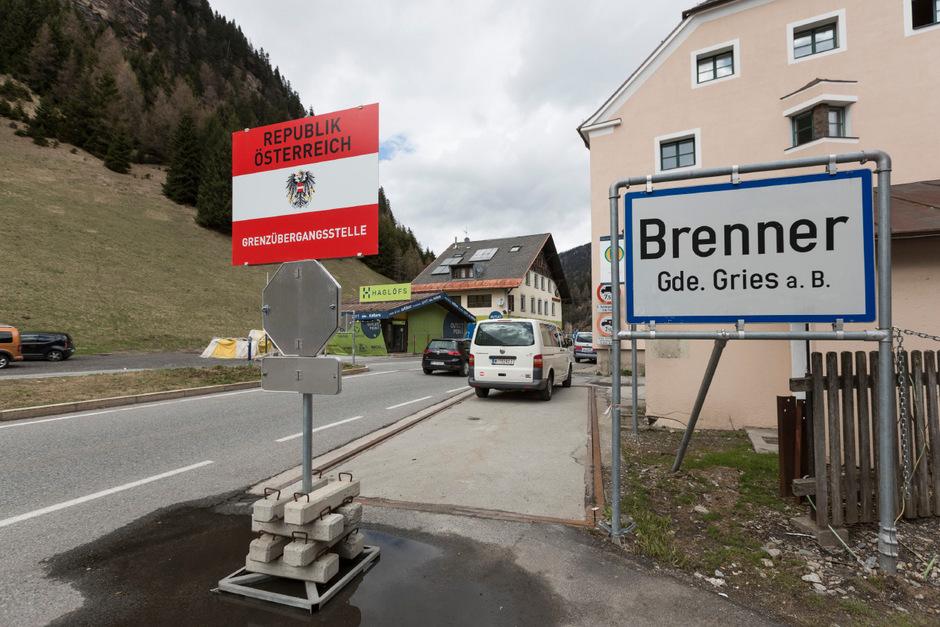 Der Grenzübergang am Brenner.
