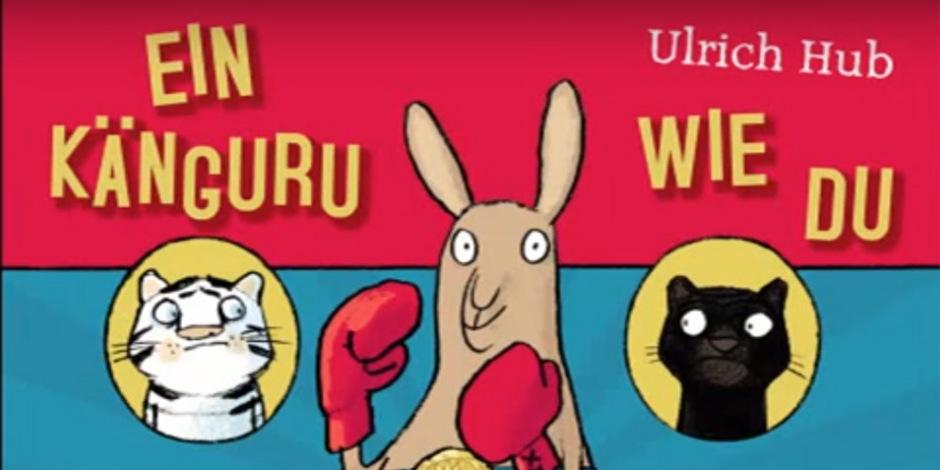 """""""Ein Känguru wie Du"""" von Ulrich Hub erhielt gute Kritiken, sorgt jedoch für gespaltene Meinungen, was seine Eignung für Kinder angeht."""