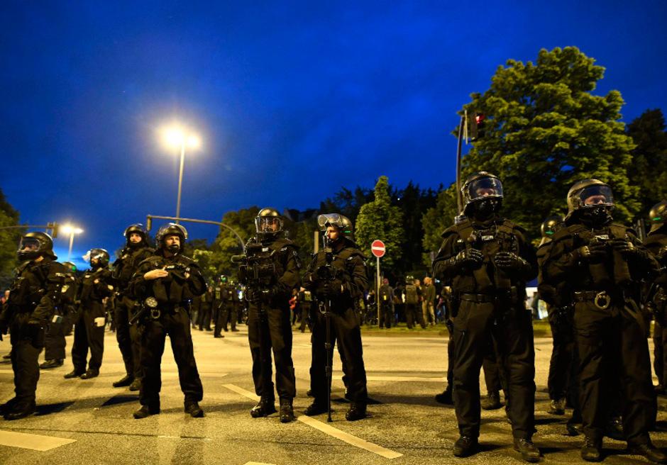 Polizei am G-20-Gipfel.