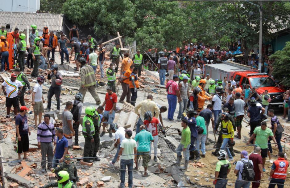 Rettungsteams in Kolumbien. (Symbolfoto)