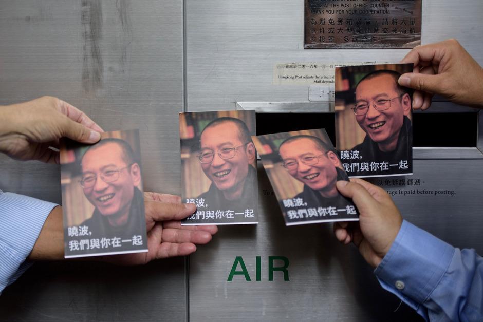 Immer noch demonstrieren die Chinesen dafür, dass Liu Xiaobo vollständig freigelassen wird.