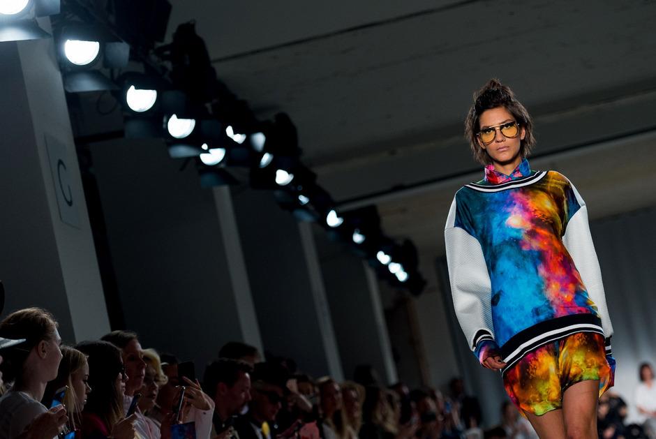 Rebekka Ruetz auf der Fashion Week Berlin im vergangenen Jahr.
