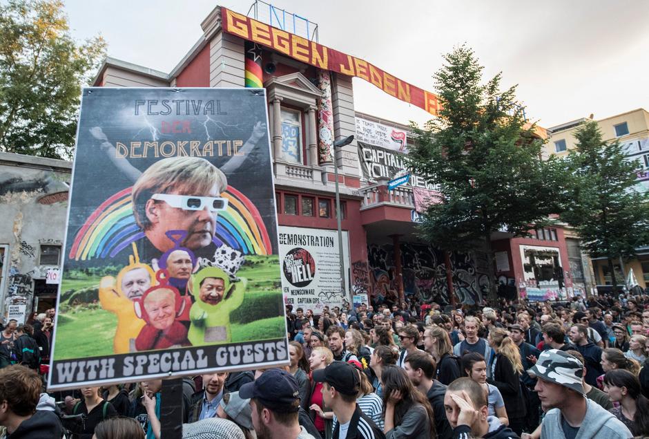 G20-Gegendemo in Hamburg.