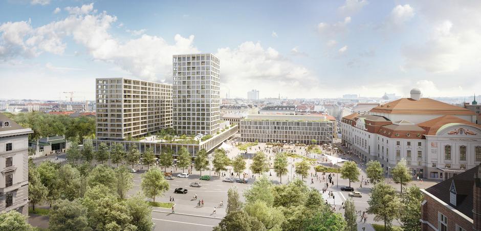 Das geplante Hochhaus am Heumarkt-Areal.