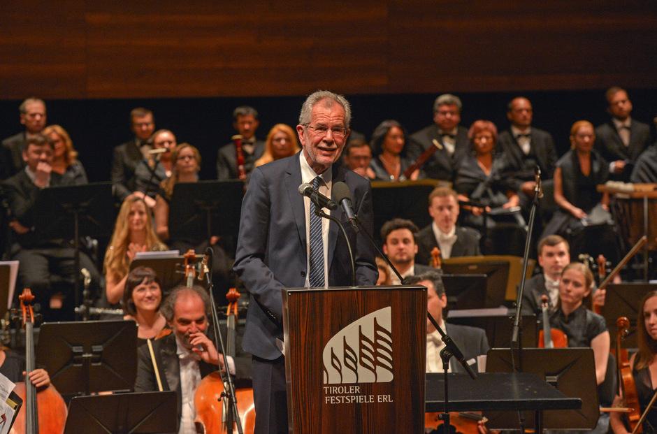 Bundespräsident Alexander Van der Bellen eröffnete am Donnerstag die Tiroler Festspiele Erl.