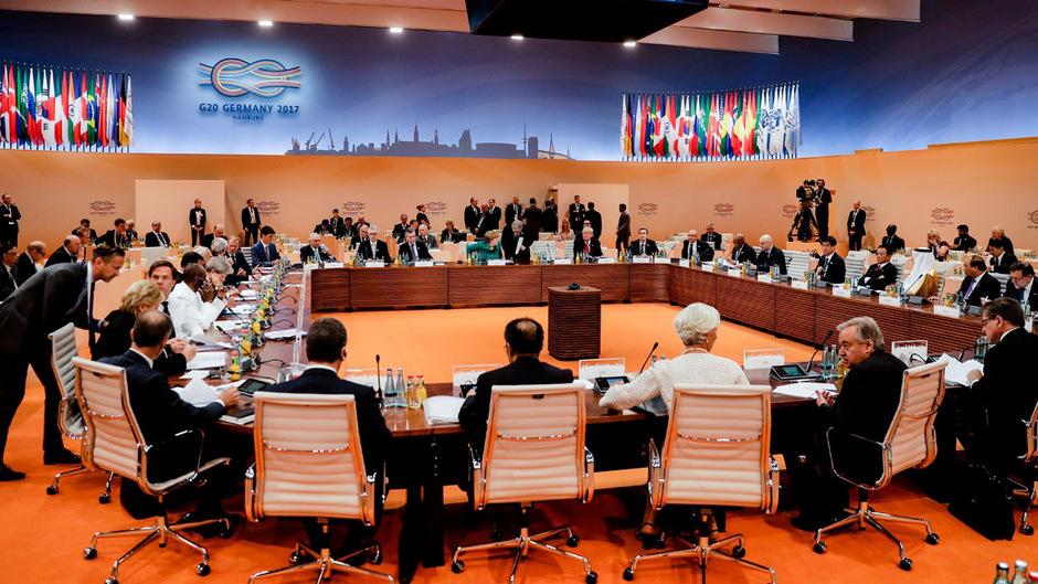 Viele Stunden diskutierten die Staats- und Regierungschefs der G20-Staaten über Wirtschaft, Handel, Klima und Krisen.
